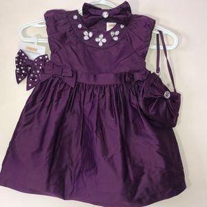 Gymboree Fair Isle Sparkle set - purse and hairbow